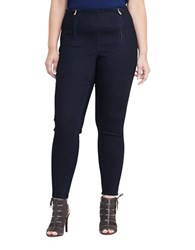 Lauren Ralph Lauren Plus Stretch Cotton Skinny Pants Ink