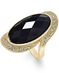 Inc International Concepts Gold Tone Large Jet Stone And Pave Statement Ring Only At Macy's