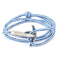 Anchor And Crew Bruce Rope And Silver Bracelet Blue Dash