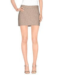 Jijil Skirts Mini Skirts Women Beige