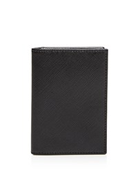 The Men's Store At Bloomingdale's Saffiano Folding Card Case Black