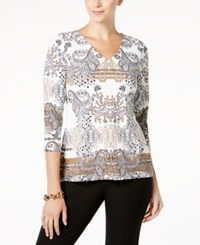 Charter Club Petite Printed Top Created For Macy's Cloud Combo