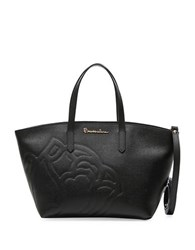 Braccialini Ninfea Crossbody Leather Tote Black