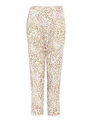 Episode Loose Wrap Leopard Print Trousers Multi Coloured