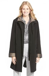 Gallery Women's Two Tone Long Silk Look Raincoat