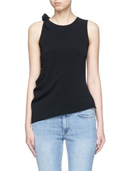 Acne Studios 'Bellair' Knotted Shoulder Tank Top Black