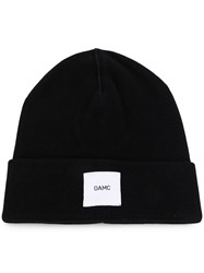 Oamc Watch Logo Patch Beanie Black