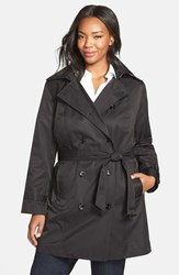 Michael Michael Kors Plus Size Women's Hooded Double Breasted Trench Coat