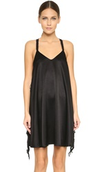 Derek Lam Fringe Cami Dress Black