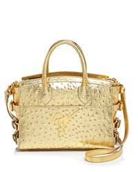 Giuseppe Zanotti Metallic Ostrich Embossed Tote 100 Bloomingdale's Exclusive Oro