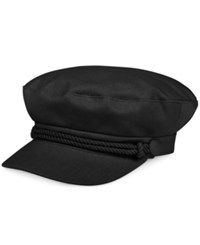 Nine West Canvas Newsboy Hat Black