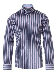 Eden Park Three Tone Striped Shirt Pink