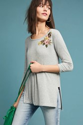 Pure Good Cranbourne Embroidered Tunic Grey