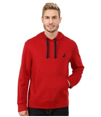 Nautica Pullover Hoodie Ribbon Red Men's Sweatshirt