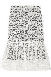Clements Ribeiro Luiza Cotton Blend Lace Skirt White