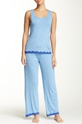 Rene Rofe Tank And Pant Pajama Set Blue