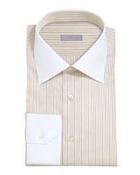 Stefano Ricci White Collar Striped Shirt Yellow Ylw