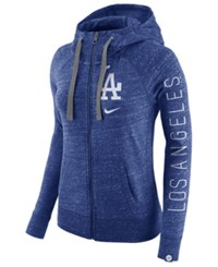 Nike Women's Los Angeles Dodgers Gym Vintage Full Zip Hooded Sweatshirt Royalblue Heather