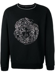 Versace Sequin Medusa Head Sweatshirt Black