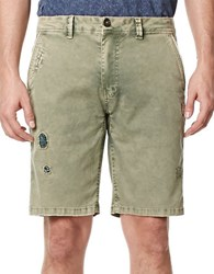 Buffalo David Bitton Patchwork Distressed Shorts Laurier