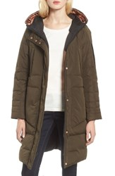 Andrew Marc New York Reversible Down Pillow Parka Olive