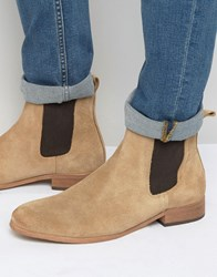 Shoe The Bear Suede Chelsea Boots Beige