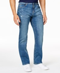 Club Room Men's Straight Leg Stretch Medium Wash Jeans Only At Macy's