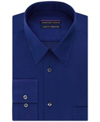 Geoffrey Beene Non Iron Bedford Cord Solid Dress Shirt Royal