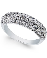 Charter Club Silver Tone Pave Cluster Statement Ring Only At Macy's