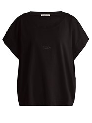 Acne Studios Tohnek Boat Neck Cotton T Shirt Black
