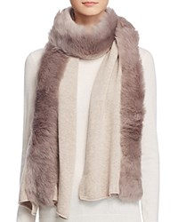 Ugg Luxe Scarf With Shearling Sheepskin Natural Heather