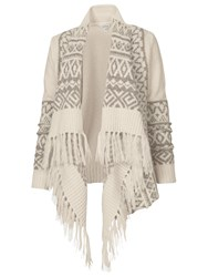 Fat Face Fairisle Waterfall Cardigan Ivory