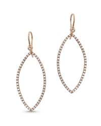 Dominique Cohen 18K Rose Gold Diamond Marquise Earrings