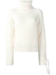 Joseph Turtleneck Ribbed Jumper Nude Neutrals