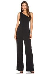 Greylin Laurel One Shoulder Jumpsuit Black