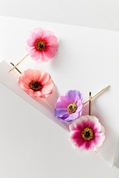 Urban Outfitters Floral Bobby Pin Set Assorted