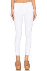 Mother High Waisted Looker Ankle Fray White