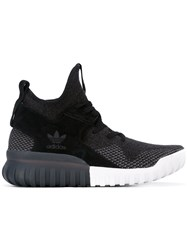 Adidas Tubular Primeknit Shoes Unisex Cotton Suede Rubber 6.5 Black