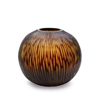 Guaxs Gobi Vase Butter Brown Round Design 30X35cm