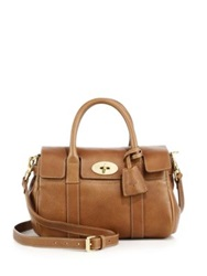 Mulberry Bayswater Small Leather Satchel Oak