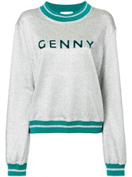 Genny Glittered Sweatshirt Metallic