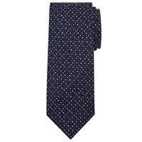 John Lewis And Co. Made In Italy Wool Spot Tie Navy White