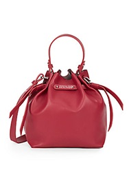 Kenneth Cole Reaction Faux Leather Mini Bucket Bag Berry