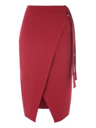 Jane Norman Red Wrap Skirt Berry