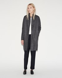 Harris Wharf London Cocoon Coat Anthracite Mouline