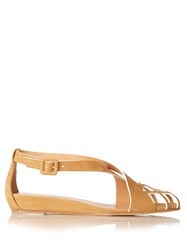 Alexa Wagner Pocahontas Cut Out Suede Sandals Tan