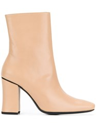 Dorateymur Sybil Leek Ankle Boots Nude And Neutrals