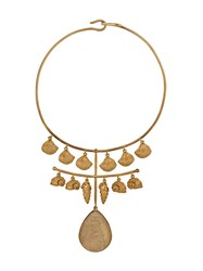 Aurelie Bidermann Panama Quartz Necklace Gold