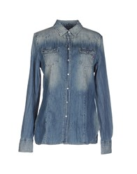 Replay Denim Denim Shirts Women Blue