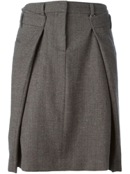 Maison Martin Margiela Origami Tweed Skirt Grey